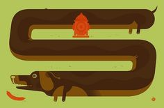 weenie | Flickr - Photo Sharing! #printmaking #of #design #little #illustration #weiner #poster #friends #dog