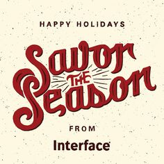 Savor the Season #holidays #lettering #seasons #zac #hand #jacobson #typography