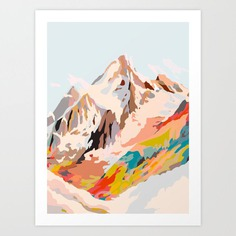 glass mountains Art Print