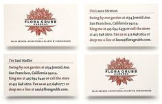 FloraGrubb_cards3 #design #graphic #identity