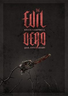 The Evil Dead Anniversary on the Behance Network #movie #design #artwork #poster #evil #dark #typography
