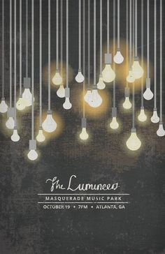 The Lumineers gig poster #illustration #lights #poster