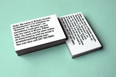 Business Card — 2012 on Behance