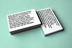 Business Card — 2012 on Behance