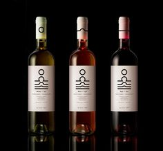 Sun wines, white - rose - red wine | mousegraphics #packaging #whine #mousegraphics