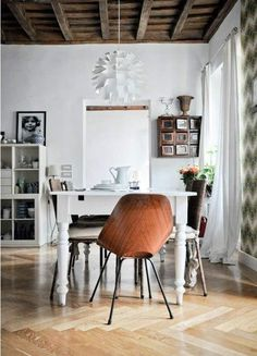 Likes | Tumblr #interior #white #chair #design #wood #table