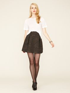Mackage Textured Wool Pleated Skirt