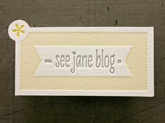See Jane Blog #die #cut #cards #business