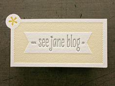 See Jane Blog #die #cut #cards #business