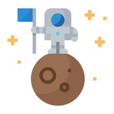 See more icon inspiration related to conquer, astronaut, space, planet, space travel, explore, flags, flag, globe, people and moon on Flaticon.