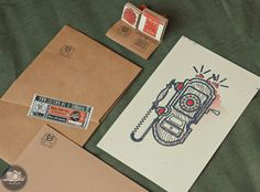 Art Print Packaging on Behance #ink #packaging #print #retro #photograph #ampersand #vintage #art