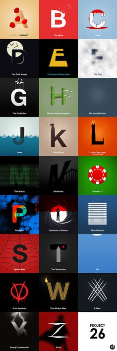 Movie Alphabet – Fubiz™ #type #image