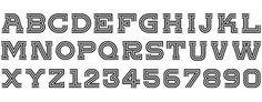 TrippleInlineAlternate_22 #allan #numerals #vinyl #alphabet #peters #espn #inline