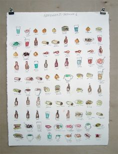 Evan Bross / Portfolio #illustration #watercolor #food