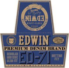 Edwin Premium Denim Brand Typography #type #print #branding