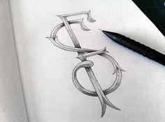 SF identity Sergi Ferrando #sketch #graphite #monogram #sf