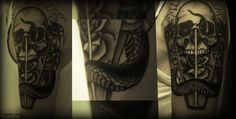 Tread #horse #tail #rose #ba #snake #glass #dots #tattoo #ck #skull