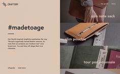 Craftory true leather goods from England United Kingdom webdesign blog by mindsparklemag