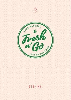 Diseño de cartel - Fresh n G0 - Irapuato México #logo #branding #mexico
