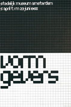 Wim Crouwel : Design Is History #grid #system #crouwel #wim #typography