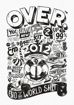 All sizes | OVER 2012 | Flickr - Photo Sharing! #illustration #typography