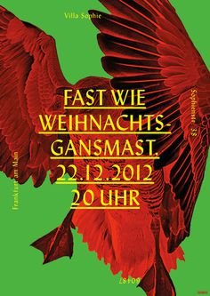2012 Daniel Gumbert #christmas #goose #poster