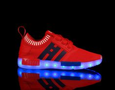 New fluorescent shoes luminous shoes LED USB interface