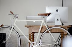 in the kitchen #white #in #bratislava #office #the #kitchen #slovakia #bike