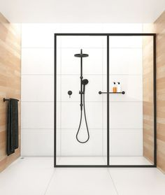 Matte black fixture shower by My Domaine #shower