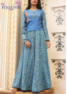 Vasansi Blue Cotton Gown