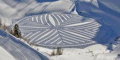 Lake winter art by Simon Beck