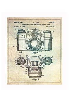 Vintage Patent Application Posters #camera