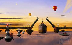 A Separate Reality Drawings Collection by Alex Andreev