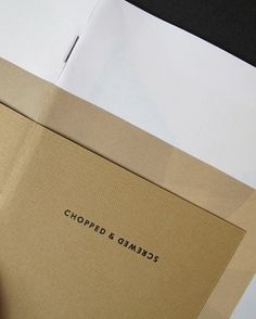 DEUTSCHE & JAPANER - Creative Studio - chopped & screwed #print #design #graphic #publication