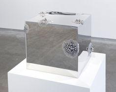 """Alyson Shotz Magnetic Force, 2011, Stainless steel, stainless steel balls, neodymium magnets, 30 x 30 x 30 cm """