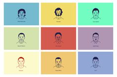 Vector Portraits Series #vector #lines #west #kanye #illustrator #football #colour #obama