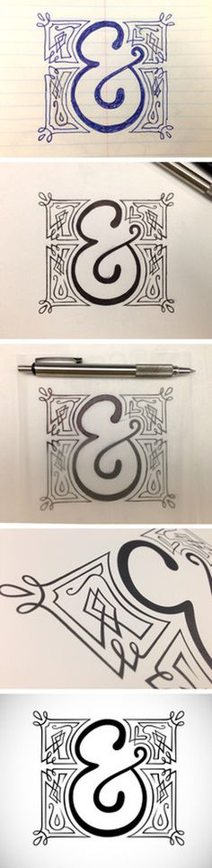 amperos font, hand drawn ampersand #lettering #design #glyph #ampersand #and #plus #character #typography