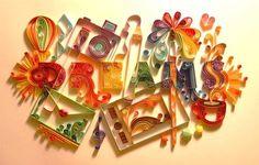 quilling_paper_art.jpg 550×350 pixels #quilling #craft #paper #typography