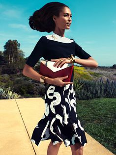 Joan Smalls by Camilla Akrans for Vogue US