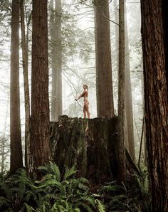 #bow #bend #forest #body #athletes #photo