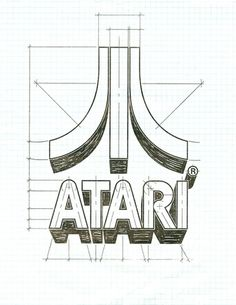 Friday find: Atari logo #logo #guidelines #atari