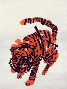 Niv Bavarsky - BOOOOOOOM! - CREATE * INSPIRE * COMMUNITY * ART * DESIGN * MUSIC * FILM * PHOTO * PROJECTS #tiger #orange #drawing #black