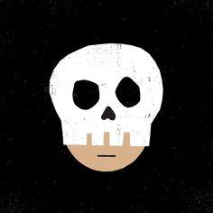 Halloween Skull #illustration #drawing #doodle #halloween #skull #vector #character
