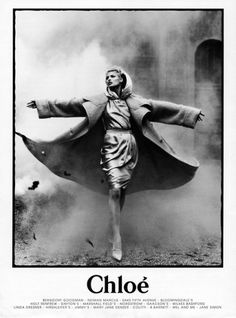 autumn winter 1995, black and white, chloe, coat, karl lagerfeld, linda evangelista - inspiring picture on Favim.com #fashion