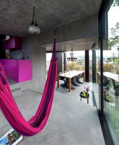 Trubel House by L3P Architekten trubel house purple interior