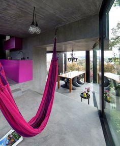 Trubel House by L3P Architekten trubel house purple interior