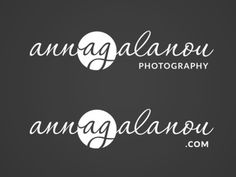 Logo for photographer Anna Galanou #logo #branding