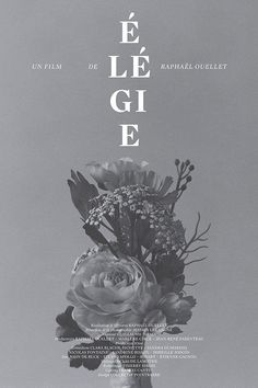 élégie court-métrage by catherine d'amours. #poster #typography