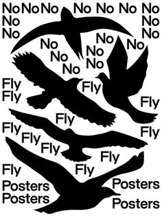 No Fly Posters #atlas #b&w #bird