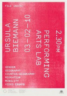 File Under | Brave New Alps - Bianca Elzenbaumer & Fabio Franz #print #typography #poster